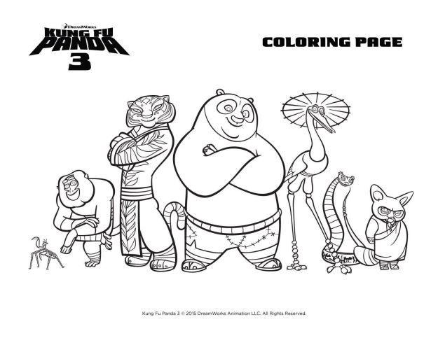 Kung Fu Panda 3 Malvorlagen Kinder De
