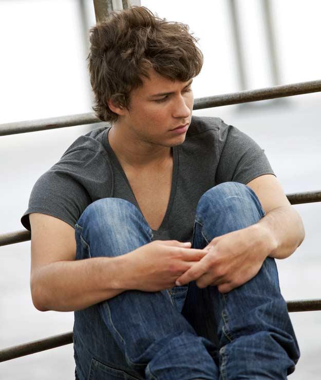 Teenager mit seelischer Krise