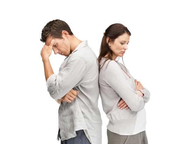 Paar bei der Trennung