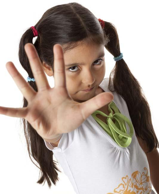 Mädchen mit Stophand