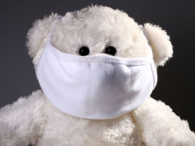 Mund- und Nasenschutz bei der Influenza.
