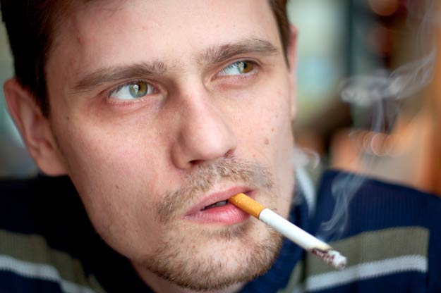 Rauchender Vater