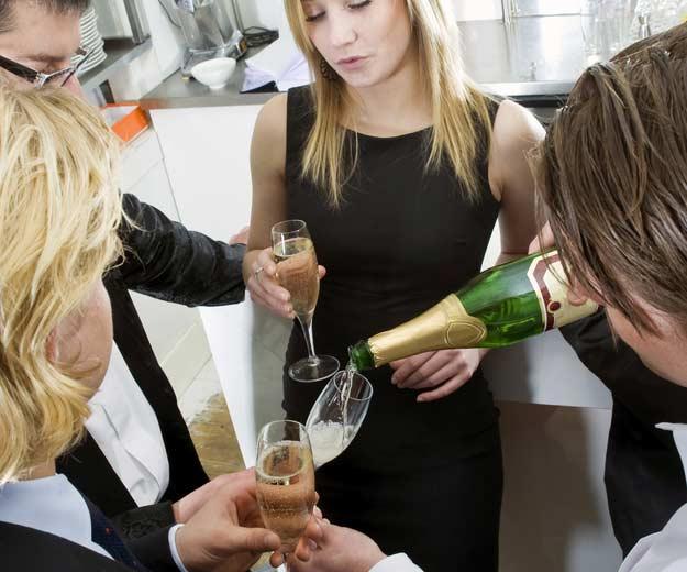 Gäste bei einer Hochzeit