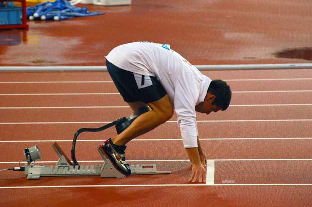 Läufer bei den paralympischen Spielen