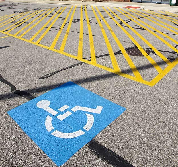 Schwerbehindertenparkplatz