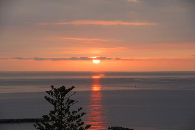 Sonnenaufgang von San Remo